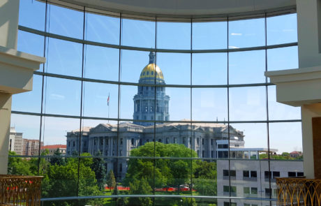 Robert Powell -View of CO State Capitol through the CO State Judicial Building #BeHistoricDenver