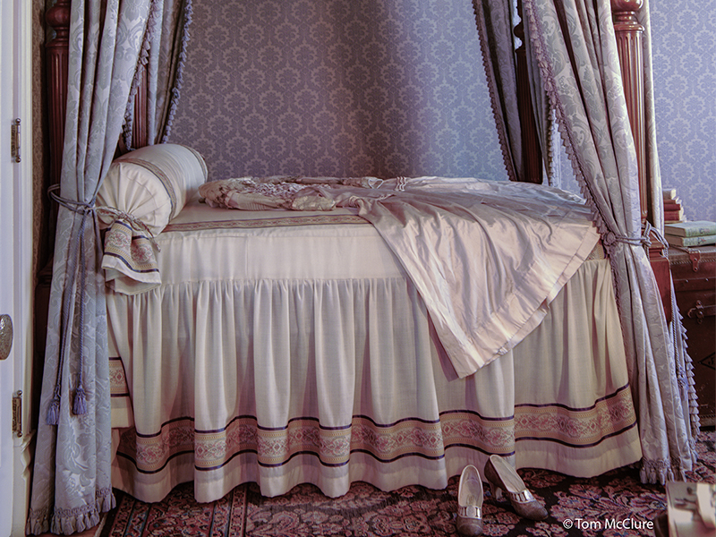 Helen Brown's four-poster bed
