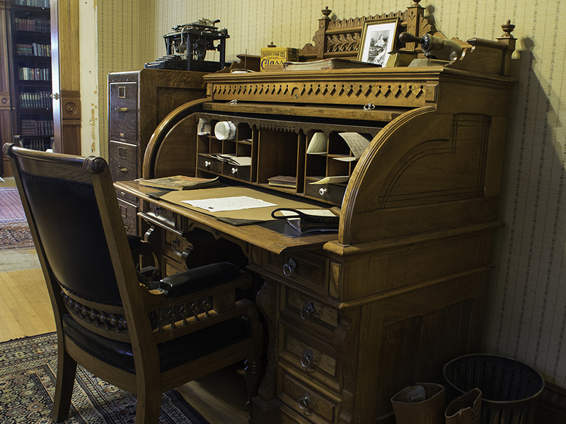 Henry Teller's roll-top desk