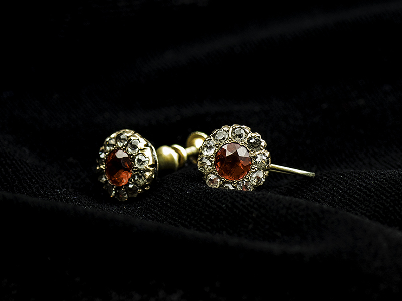 Margaret Brown's ruby earrings